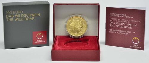 Lieferumfang:Österreich : 100 Euro Wildschwein  2014 PP