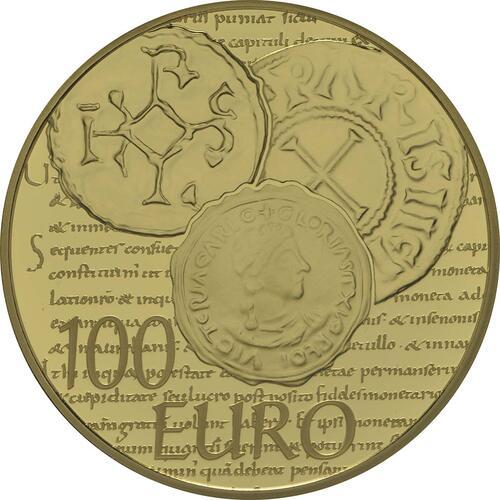 Rückseite:Frankreich : 100 Euro Karl der Kahle  2014 PP