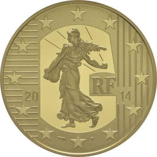 Vorderseite:Frankreich : 100 Euro Karl der Kahle  2014 PP