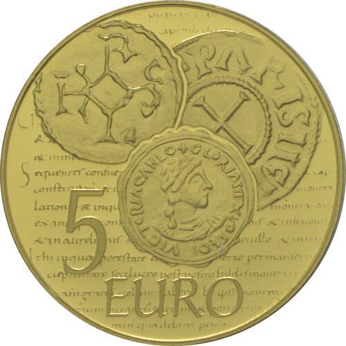 Rückseite:Frankreich : 5 Euro Karl der Kahle  2014 PP