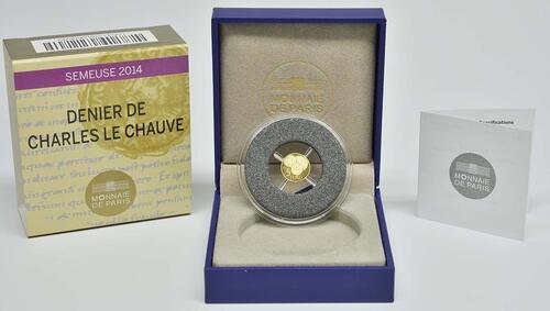 Lieferumfang:Frankreich : 5 Euro Karl der Kahle  2014 PP