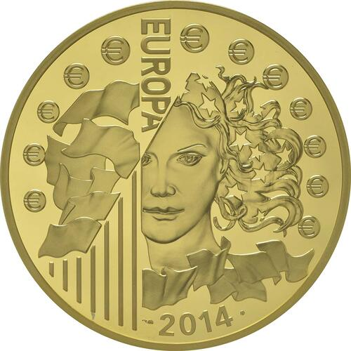 Rückseite:Frankreich : 500 Euro Europäische Weltraumorganisation ESA  2014 PP