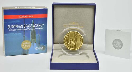 Lieferumfang:Frankreich : 500 Euro Europäische Weltraumorganisation ESA  2014 PP