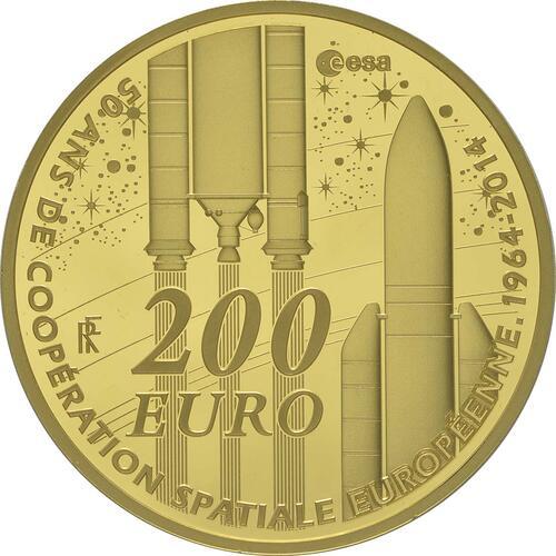 Vorderseite:Frankreich : 200 Euro Europäische Weltraumorganisation ESA  2014 PP