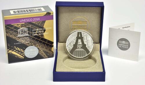 Lieferumfang:Frankreich : 50 Euro Ufer der Seine  2014 PP