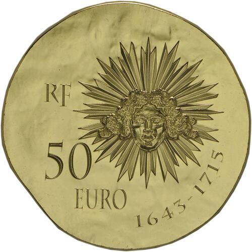 Rückseite:Frankreich : 50 Euro Louis XIV.  2014 Stgl.