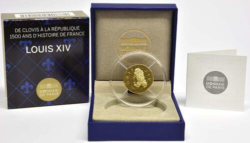 Lieferumfang:Frankreich : 50 Euro Louis XIV.  2014 Stgl.