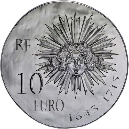 Rückseite:Frankreich : 10 Euro Louis XIV.  2014 Stgl.