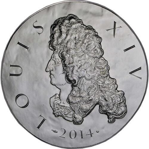 Vorderseite:Frankreich : 10 Euro Louis XIV.  2014 Stgl.