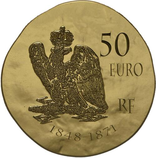 Rückseite:Frankreich : 50 Euro Napoleon III.  2014 Stgl.