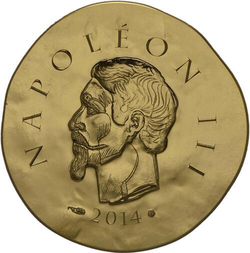 Vorderseite:Frankreich : 50 Euro Napoleon III.  2014 Stgl.