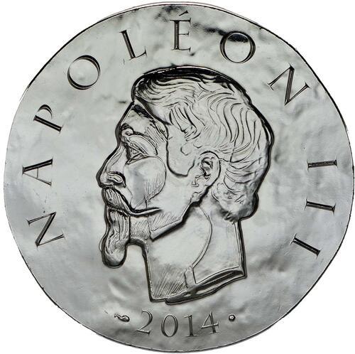 Vorderseite:Frankreich : 10 Euro Napoleon III.  2014 Stgl.