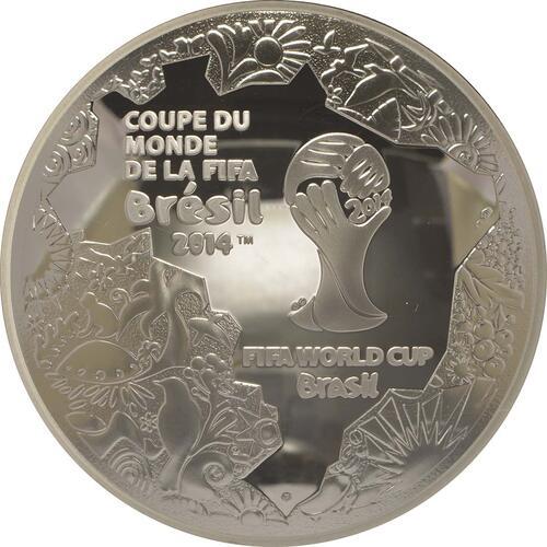 Vorderseite:Frankreich : 10 Euro Fußball WM  2014 PP