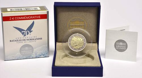 Lieferumfang:Frankreich : 2 Euro D-Day  2014 PP