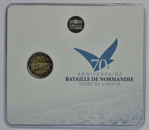 Lieferumfang:Frankreich : 2 Euro D-Day  2014 Stgl.
