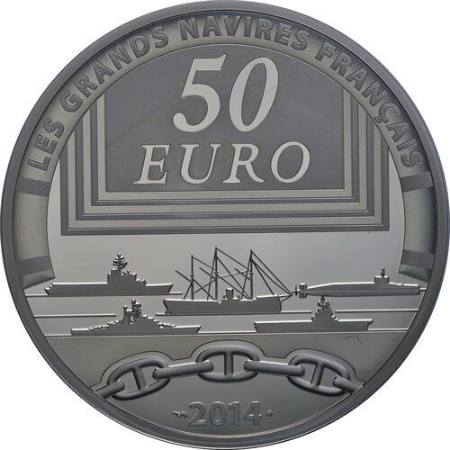 Rückseite:Frankreich : 50 Euro Redoutable  2014 PP