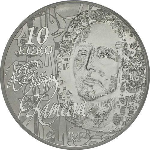 Rückseite:Frankreich : 10 Euro Jean Baptiste Rameau  2014 PP
