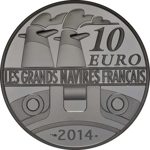 Rückseite:Frankreich : 10 Euro Le Normandie  2014 PP