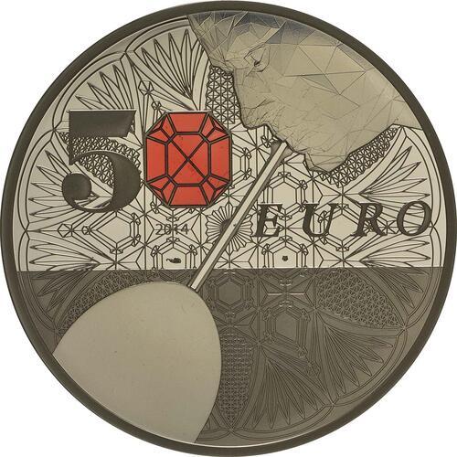 Vorderseite:Frankreich : 50 Euro 250 Jahre Baccarat Kristallglasmanufaktur  2014 PP