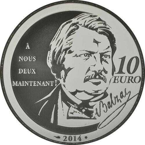 Rückseite:Frankreich : 10 Euro Rastignac  2014 PP