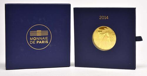 Lieferumfang:Frankreich : 1000 Euro Gallischer Hahn  2014 Stgl.