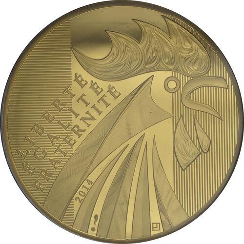 Vorderseite:Frankreich : 1000 Euro Gallischer Hahn  2014 Stgl.