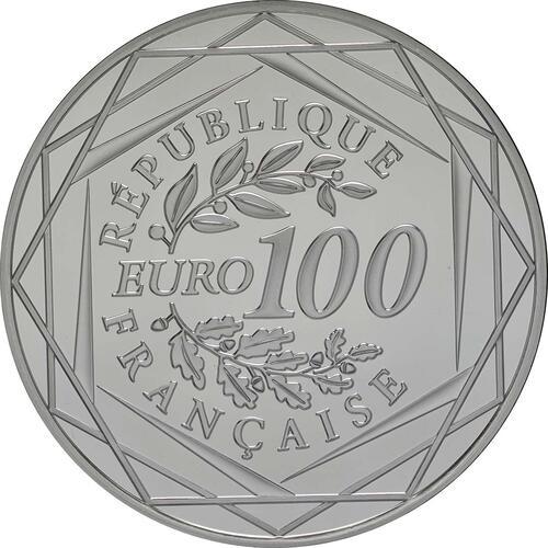 Rückseite:Frankreich : 100 Euro Gallischer Hahn  2014 Stgl.