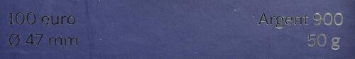 Zertifikat:Frankreich : 100 Euro Gallischer Hahn  2014 Stgl.