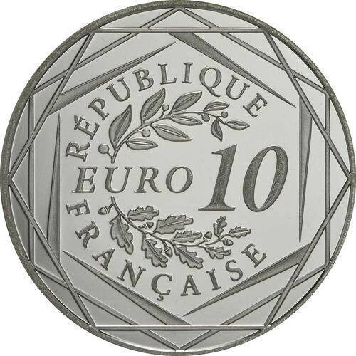Rückseite:Frankreich : 10 Euro Gallischer Hahn  2014 PP