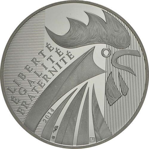 Vorderseite:Frankreich : 10 Euro Gallischer Hahn  2014 PP