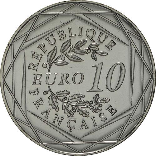 Rückseite:Frankreich : 10 Euro Gallischer Hahn  2014 Stgl.