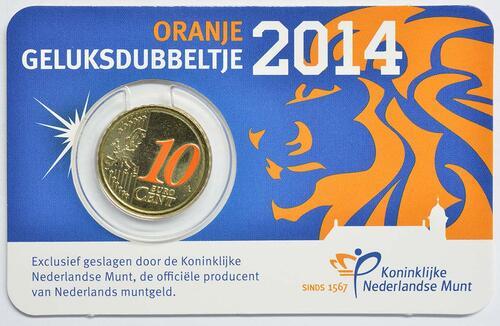 Lieferumfang:Niederlande : 10 Cent Der orangene Glückszehner  2014 Stgl.