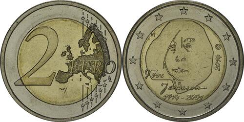Lieferumfang:Finnland : 2 Euro Tove Jansson  2014 bfr