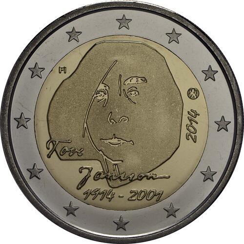 Rückseite :Finnland : 2 Euro Tove Jansson  2014 PP