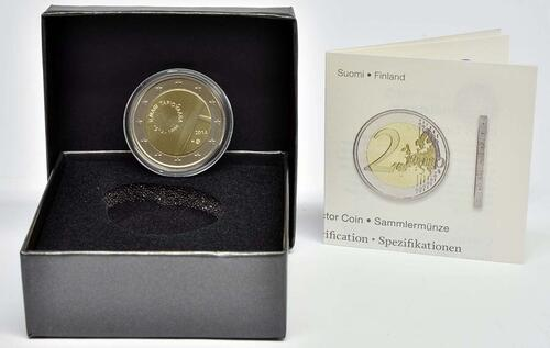 Lieferumfang :Finnland : 2 Euro Tapiovaara  2014 PP