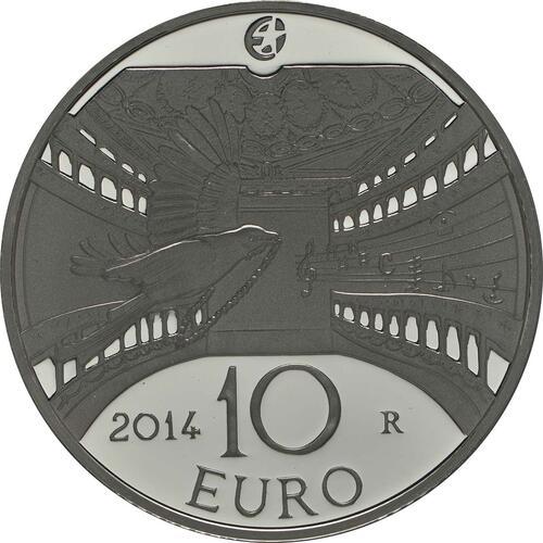 Rückseite:Italien : 10 Euro Gioacchina Rossini  2014 PP