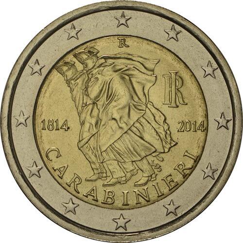Rückseite:Italien : 2 Euro Carabinieri  2014 bfr