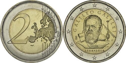 Lieferumfang:Italien : 2 Euro Galileo Galilei  2014 bfr