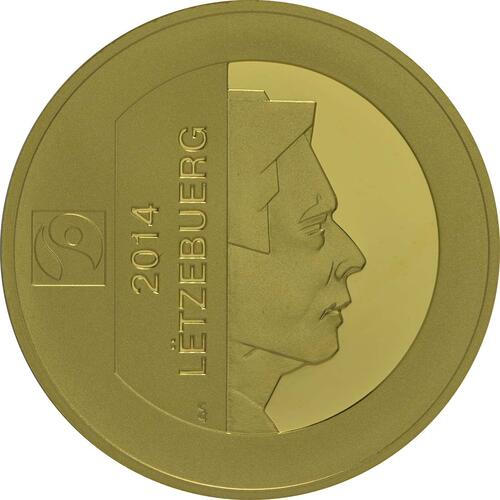 Vorderseite:Luxemburg : 175 Cent 175 Jahre Unabhängigkeit  2014 PP