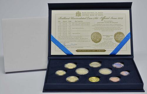 Lieferumfang:Malta : 5,88 Euro KMS Malta inkl. 2 Euro Gedenkmünze Unabhängigkeit  2014 Stgl.