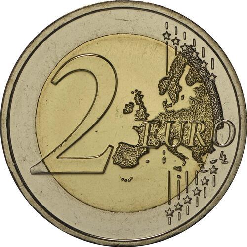 Vorderseite:Malta : 2 Euro 200 Jahre Polizei in Malta  2014 bfr