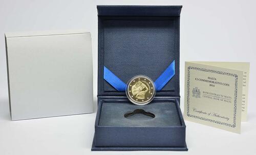Lieferumfang:Malta : 2 Euro Unabhängigkeit 1964  2014 PP