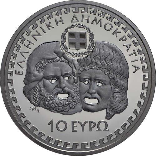 Rückseite:Griechenland : 10 Euro Euripides  2014 PP