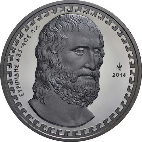 Vorderseite:Griechenland : 10 Euro Euripides  2014 PP