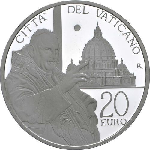 Vorderseite:Vatikan : 23,88 Euro KMS Vatikan mit 20 Euro Gedenkmünze Heiligsprechung Papst Johannes XXIII  2014 PP