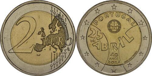 Lieferumfang:Portugal : 2 Euro Nelkenrevolution  2014 bfr
