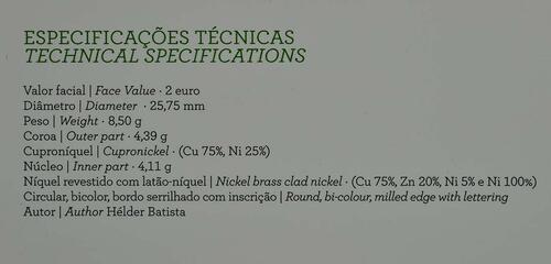 Zertifikat :Portugal : 2 Euro Internationales Jahr der familiären Landwirtschaft  2014 PP