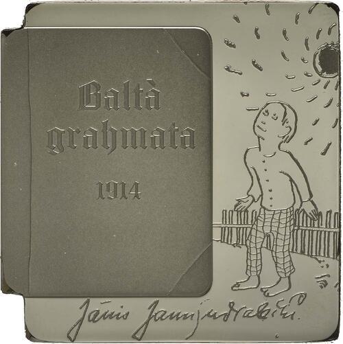 Vorderseite:Lettland : 5 Euro Das Weiße Buch von Janis Jaunsudrabins  2014 PP