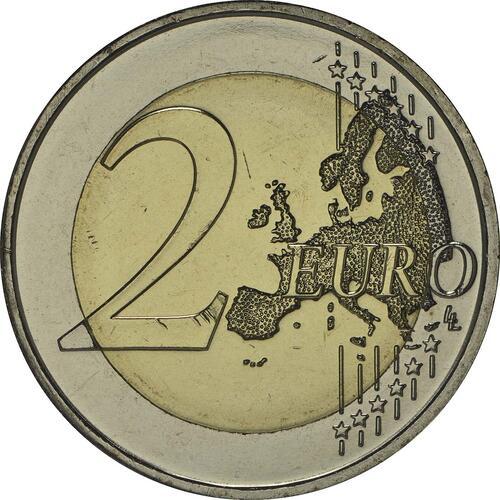 Vorderseite:Lettland : 2 Euro Riga Kulturhauptstadt  2014 bfr