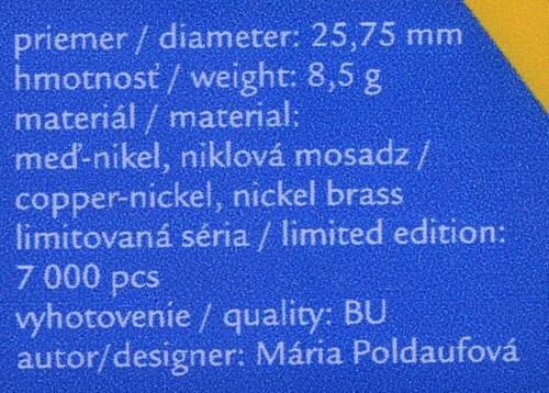 Zertifikat:Slowakei : 2 Euro 10. Jahrestag EU-Beitritt  2014 bfr